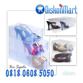 Kotak Sepatu Transparan Putih